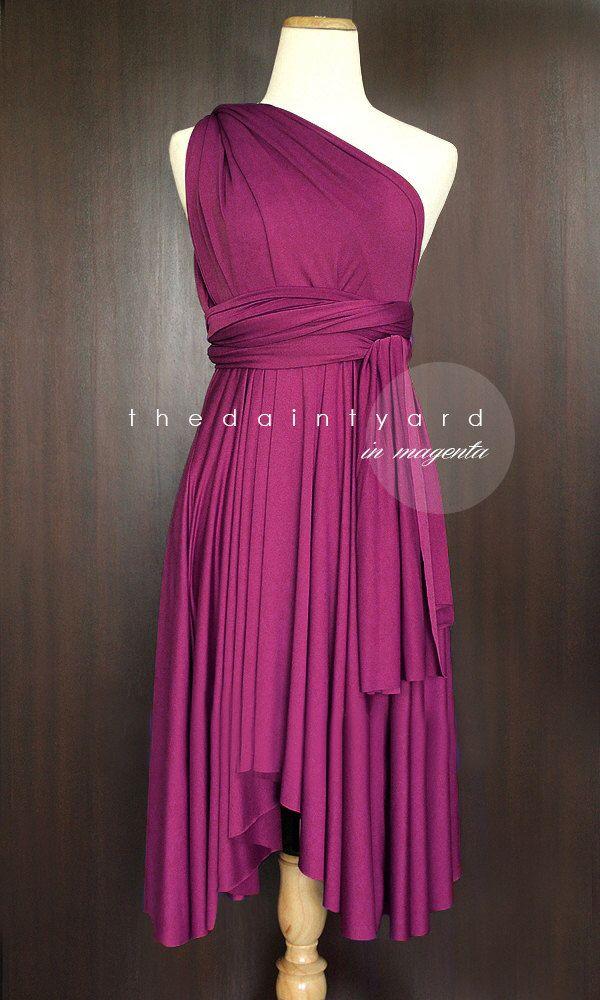 Magenta Bridesmaid Dress Convertible Dress Infinity Dress Multiway ...