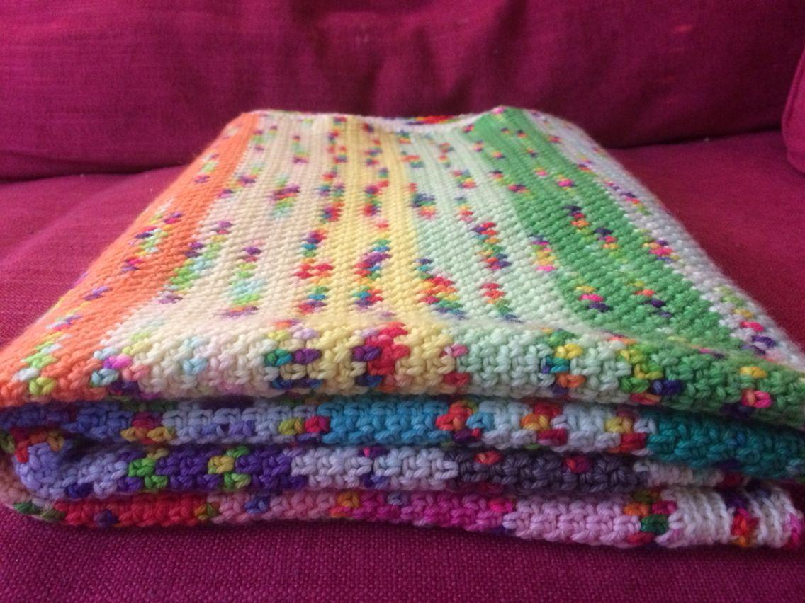 Rainbow stripe with cuddlebums yarn