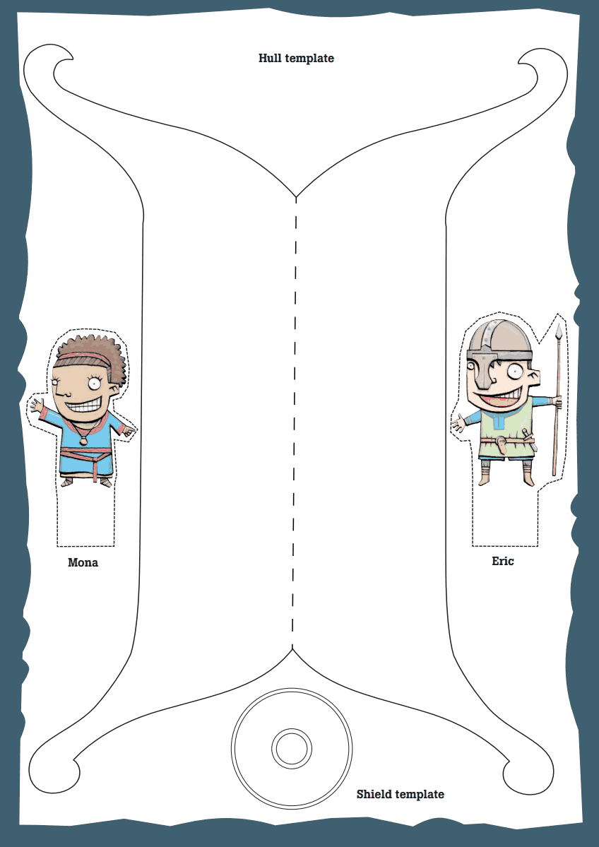Template For A Viking Ship Free Create Your Own Figure Head And Flag Instructions Included Looks Like Fun