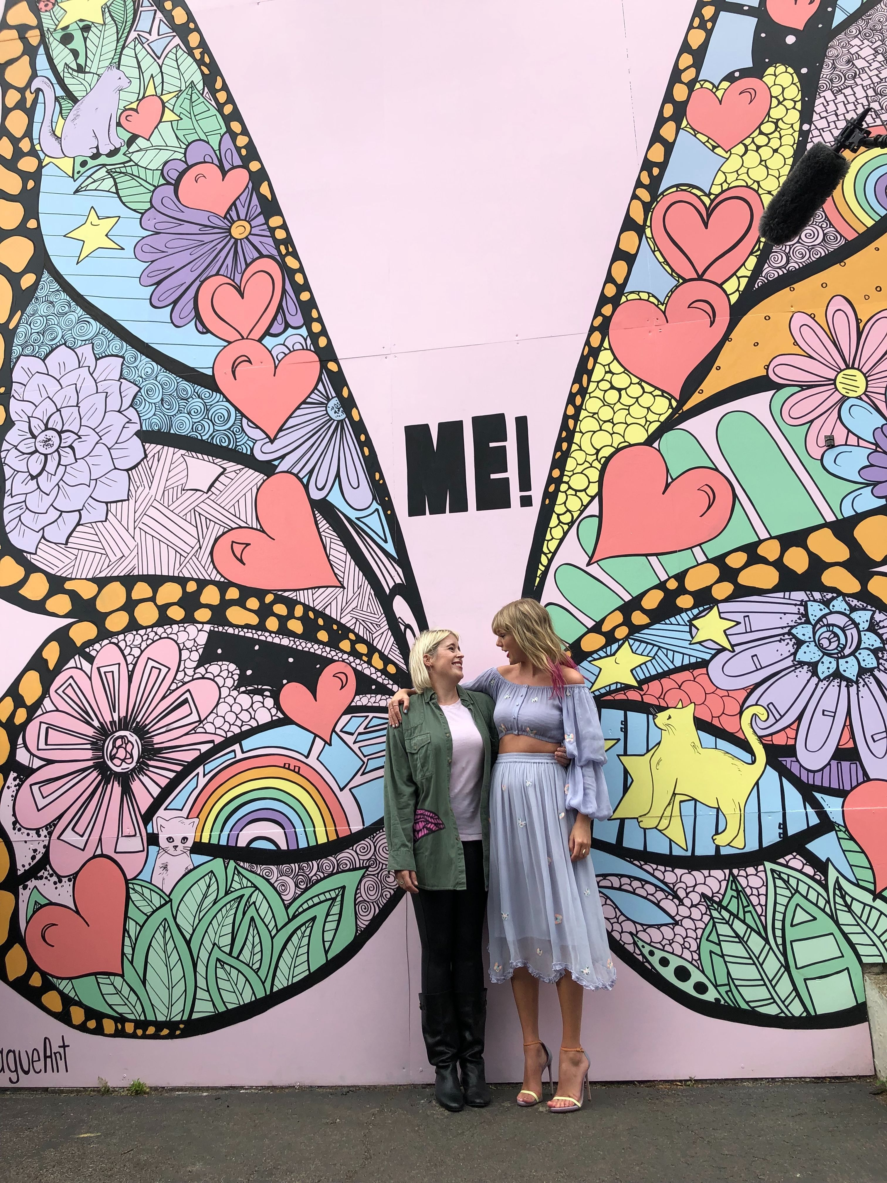 The Artist Behind The Butterfly Mural Had No Idea It Was For Taylor Swift Nashville Murals Mural Wall Art Mural Art