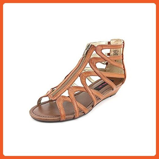 494c33a37a0f5 Material Girl Olive Synthetic Gladiator Sandal, COGNAC, Size 7.0 ...