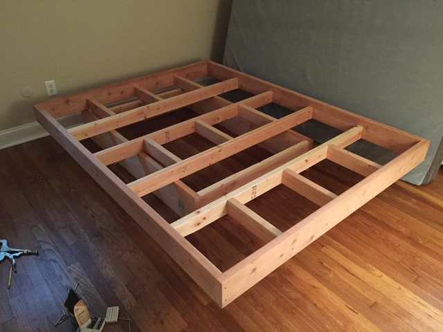 floating bed frame with