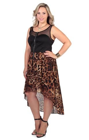 49927958e2a Cheetah Print Hi-Lo Dress - deb - debshops.com