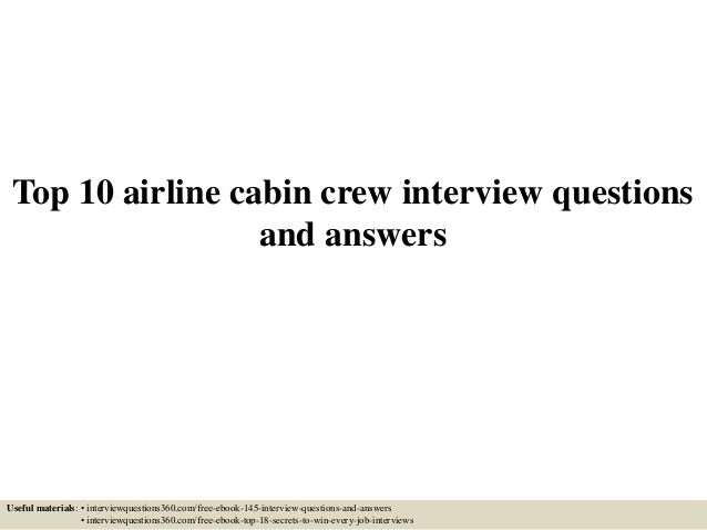 Top  Airline Cabin Crew Interview Questions And Answers  Career