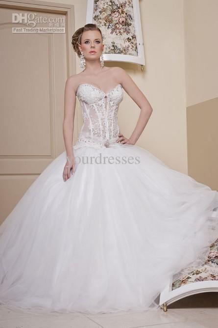 A Line See Through Bateau Beach Wedding Dress Lace Liqued Floor Length Ivory