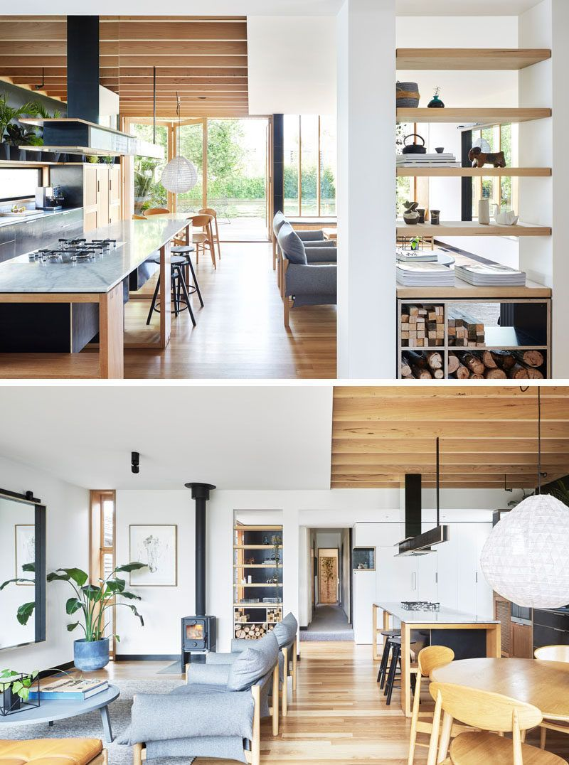 A Wood Extension Creates Extra Living Space In This Australian House |  Modern wood house, Wood doors interior, Interior doors for sale