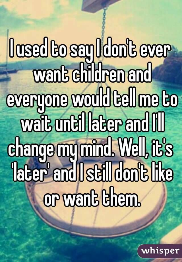 i used to say i and me