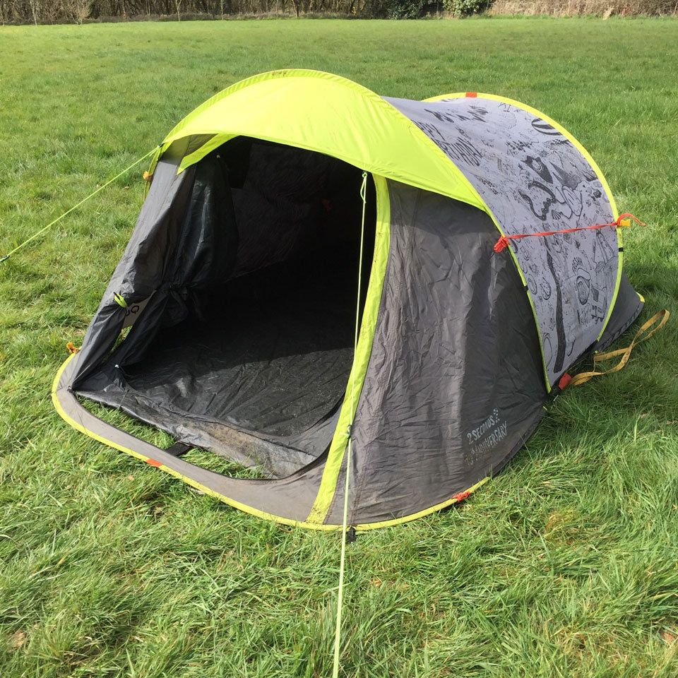 Quechua 10th Anniversary Edition - 2 Seconds 2 Man Popup Tent C&ing/Festivals in Sporting & Quechua 2 Seconds 2 Man Popup Tent (Pop Up) Camping / Festivals ...