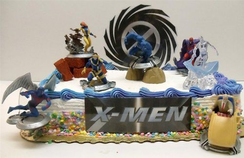 Admirable X Men Classic Birthday Cake Topper Featuring Professor X Cyclops Birthday Cards Printable Giouspongecafe Filternl
