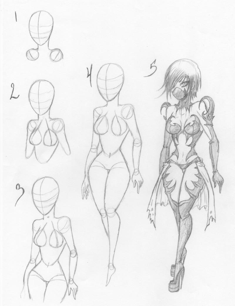How I Draw Female Bodies By Ktzombie On Deviantart