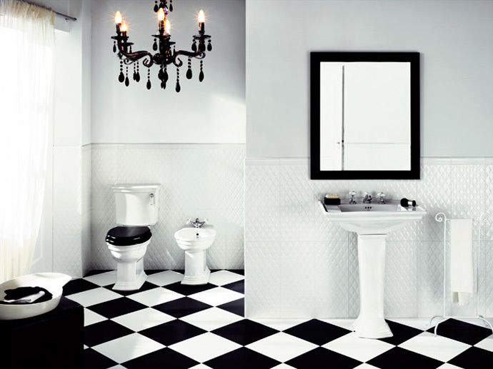 Bianco nero casa boudreaux pinterest bagni bianchi bagno e bianco