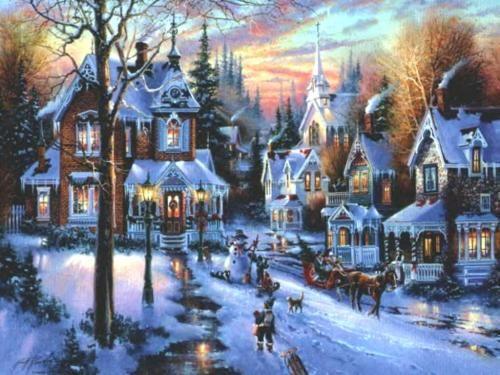 Sfondi Paesaggi Natalizi.Sfondi Paesaggi Card Di Natale Paesaggi Scene Invernali Cartoline Di Natale