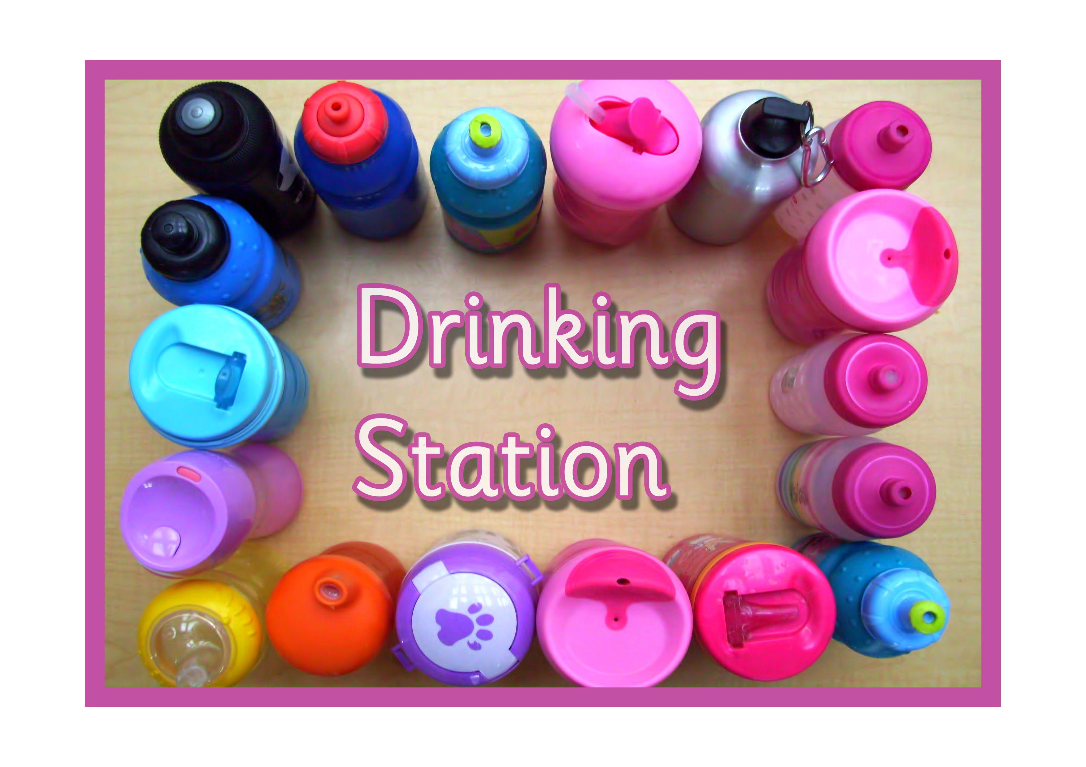 Classroom sign - drinking station. drink bottles # ...