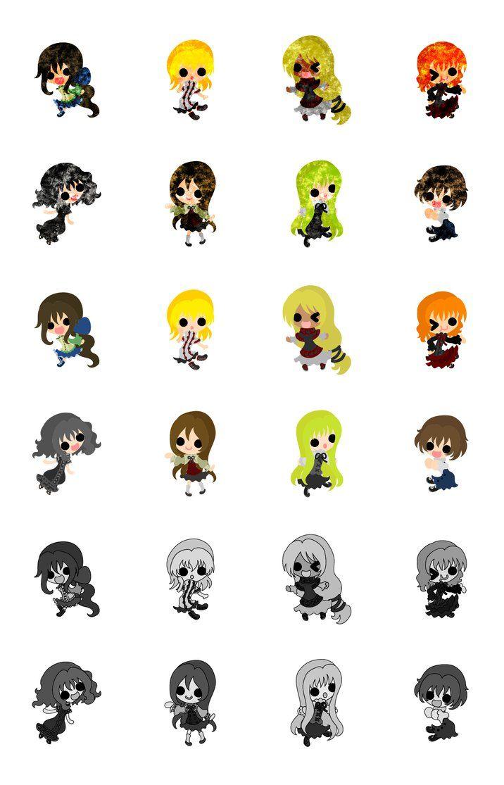 フリーのイラスト素材可愛い女の子達のアイコン The Icons Of Cute
