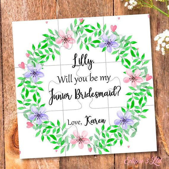 Will You Be My Junior Bridesmaid Gift Junior Bridesmaid