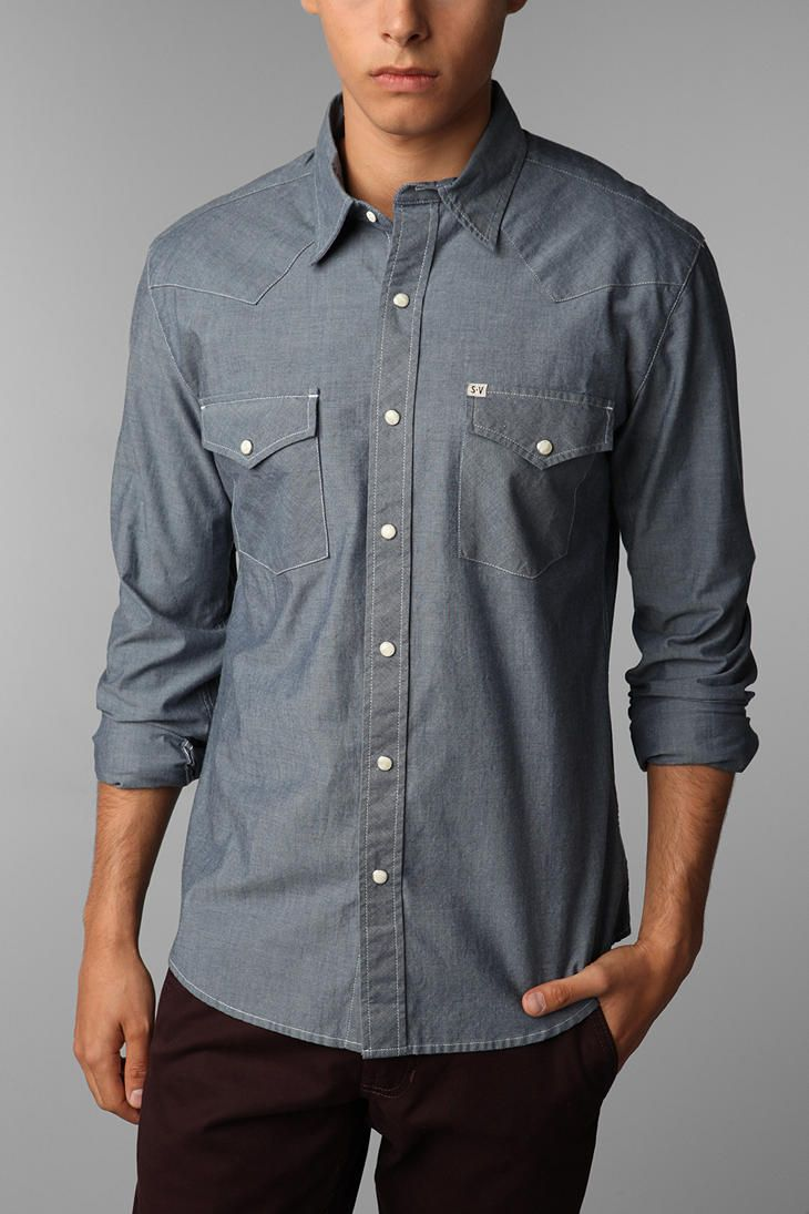 4d58099ba3 Every man should own this shirt (dark chambray mandatory