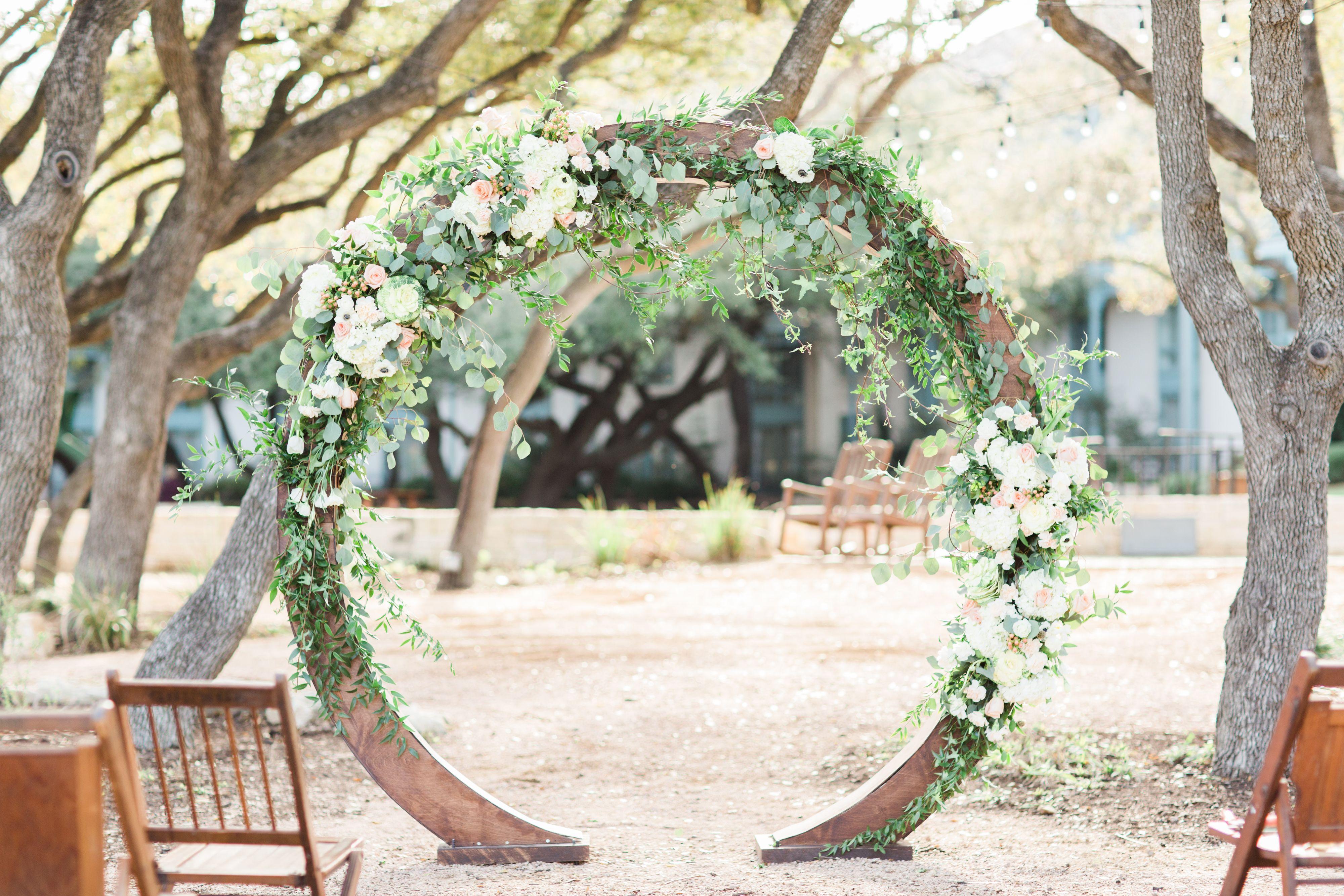 Elegant Outdoor Wedding Ceremony Site Near San Antonio: This Rustic Yet Elegant Outdoor Wedding Venue Is