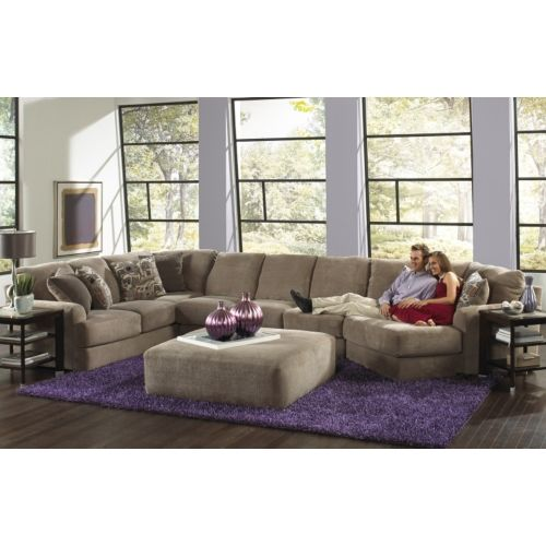 Regal 3 Piece Modular Sectional And Cocktail Ottoman Room Package | HOM  Furniture