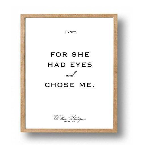 Othello romantic love quotes