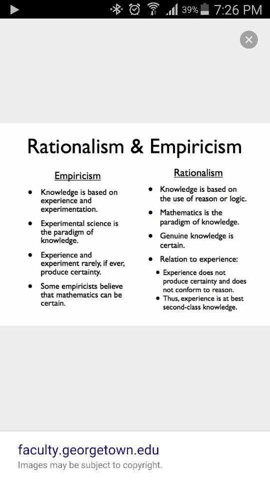 Rationalism Vs Empiricism Philosophy Essays Philosophy Quotes Philosophy Theories