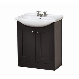 Dark Chocolate Eurostone Bath Vanity With Top Lowes - Lowes hardware bathroom vanity