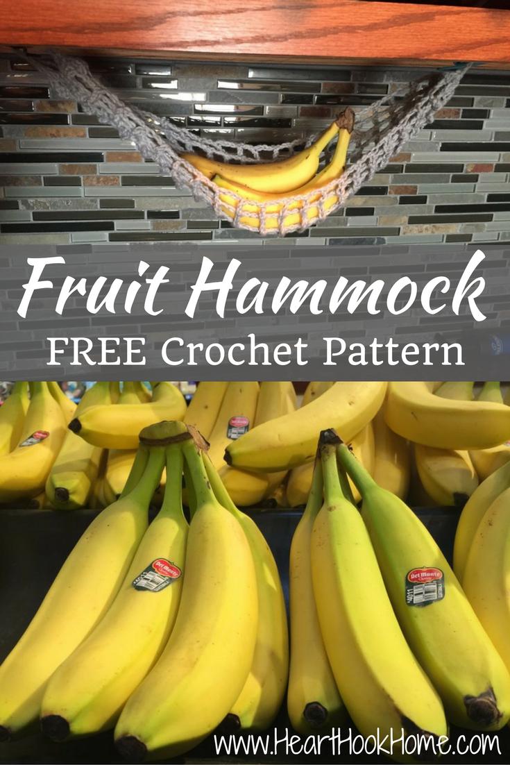 Lonely banana crocheted fruit hammock free pattern hanger