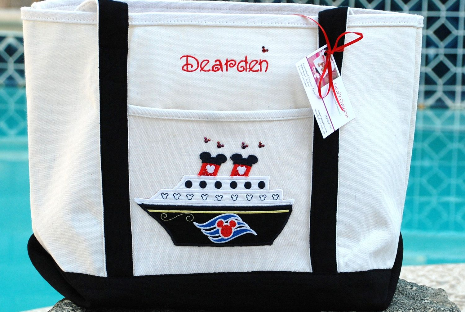 Personalized Disney Wedding Gifts: Personalized Disney Cruise Tote Bag