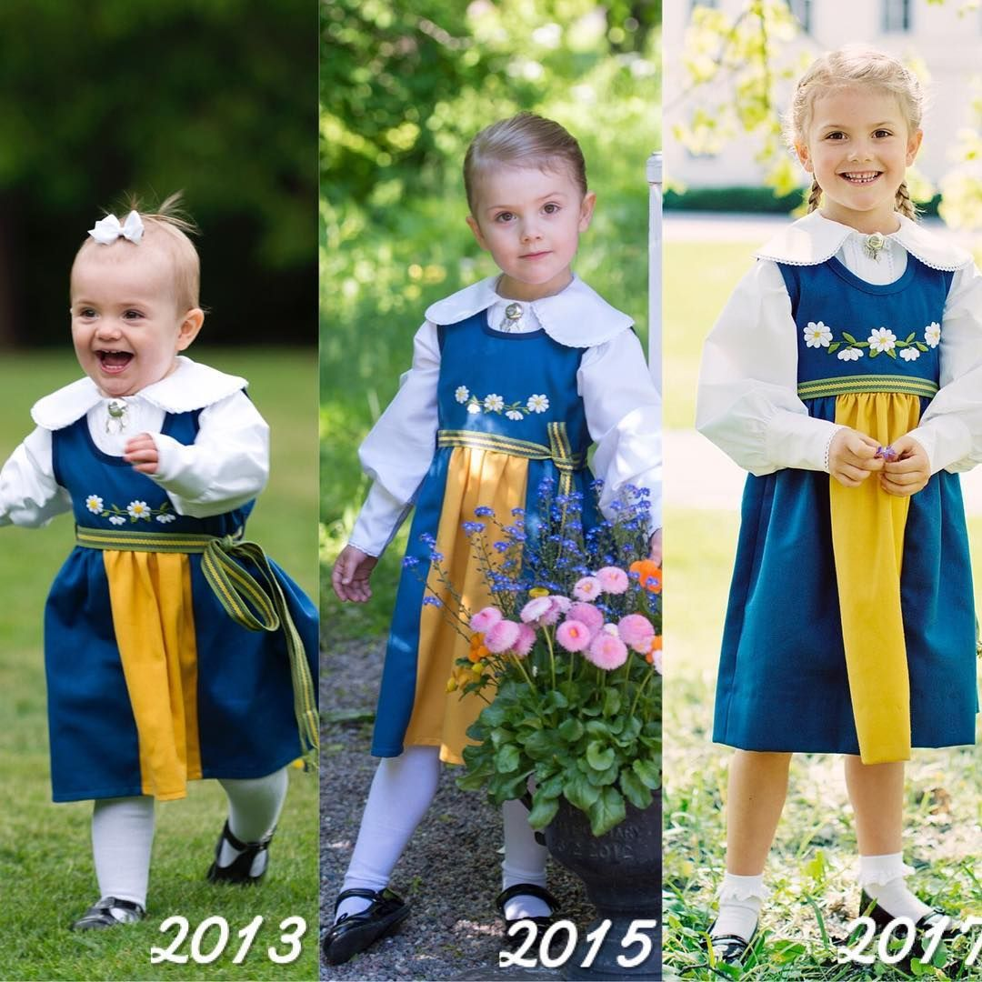 Princess Estelle🇸🇪  Time flies, I can't believe she is now 5 years old💕  #swedishroyalfamily #kungahuset #princessestelle #swedishnationalday #thenandnow #instaroyals #royaladdicted2collage