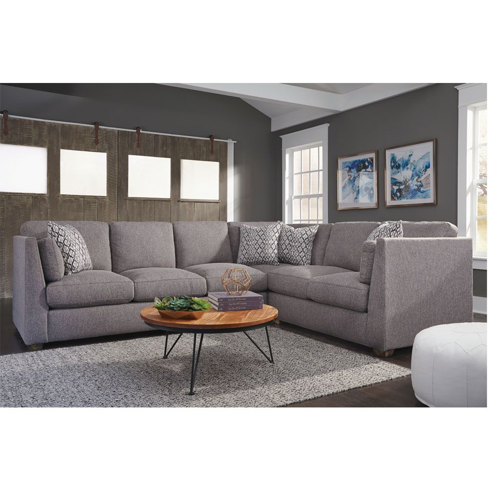 The 821 Greystone Stationary Sectional Is A Chic Contemporary Sectional With Reversible Sea Living Room Sofa Living Room Sectional
