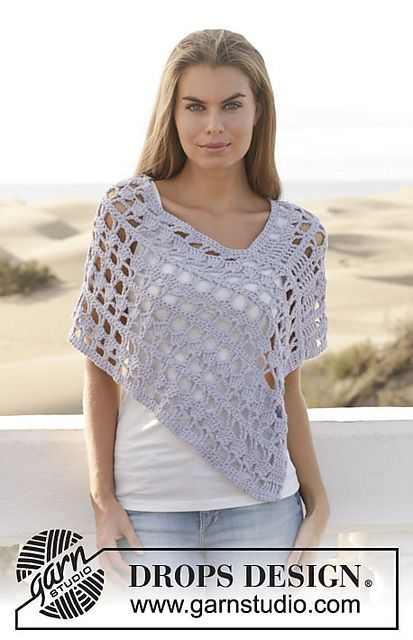 Ravelry: 153-11 Atardecer pattern by DROPS design | Ponchos capas ...