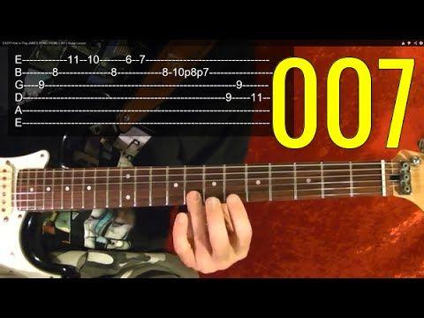 JAMES BOND Theme ( 007 ) - EASY Guitar Lesson - YouTube | Lesson ...