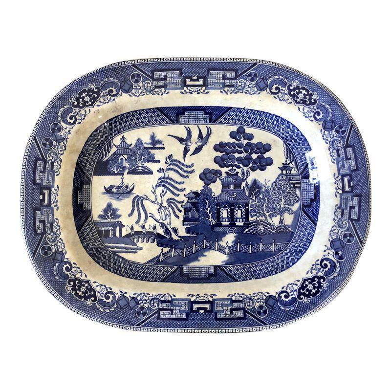 Antique Buffalo Pottery Blue Willow Platter Antique Blue Willow Blue Willow China Blue Willow