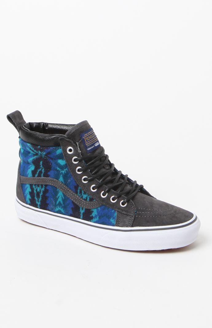 aca5cb0f67 x Pendleton SK8-Hi MTE Blue Shoes