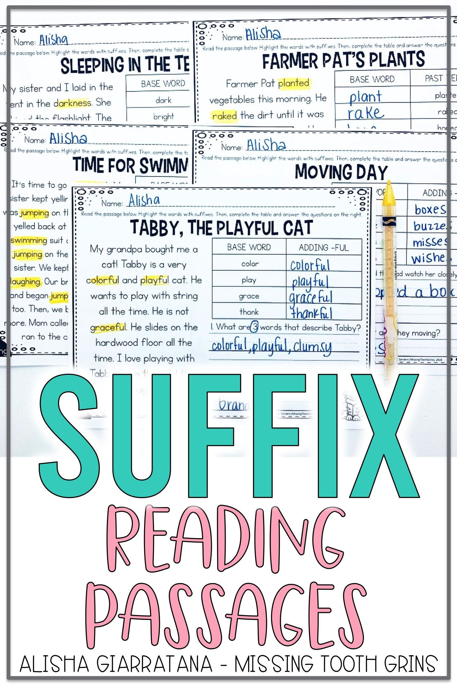 Suffix Reading Passages