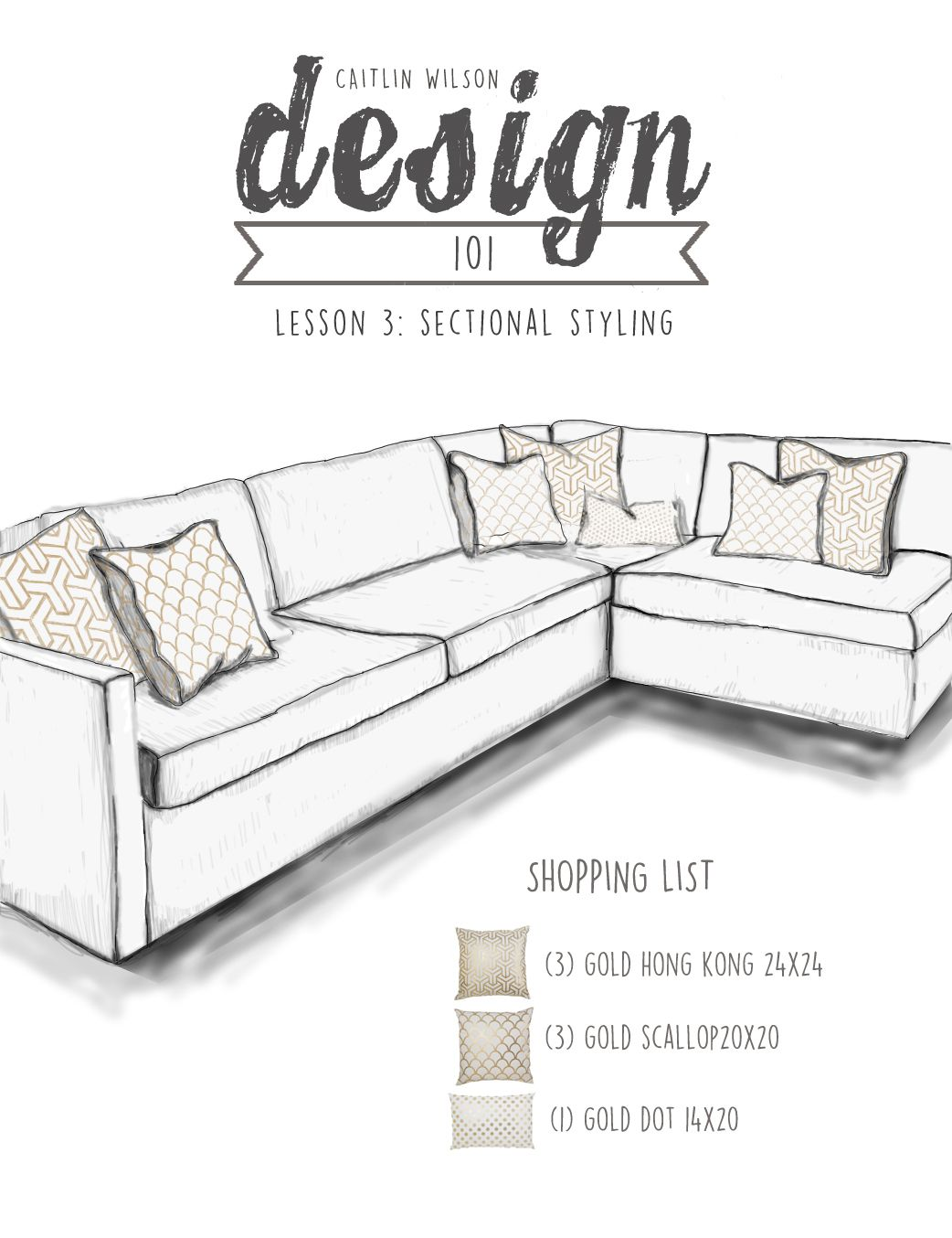 Sectional Drawing Gold | Living room | Pinterest | Draw, Gold and ...