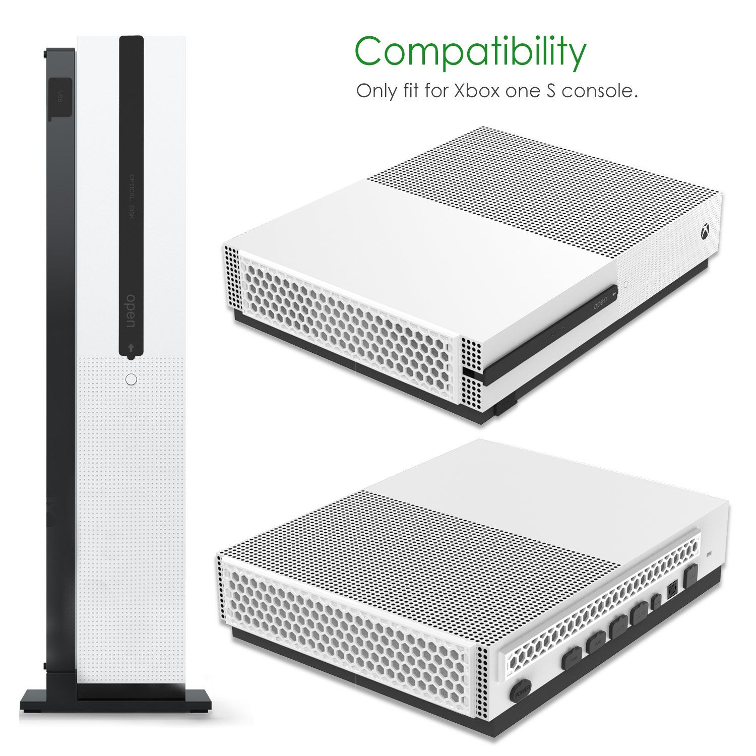 MoKo Xbox One S Dust-Proof Kit, Dirt-Proof Prevention Cover