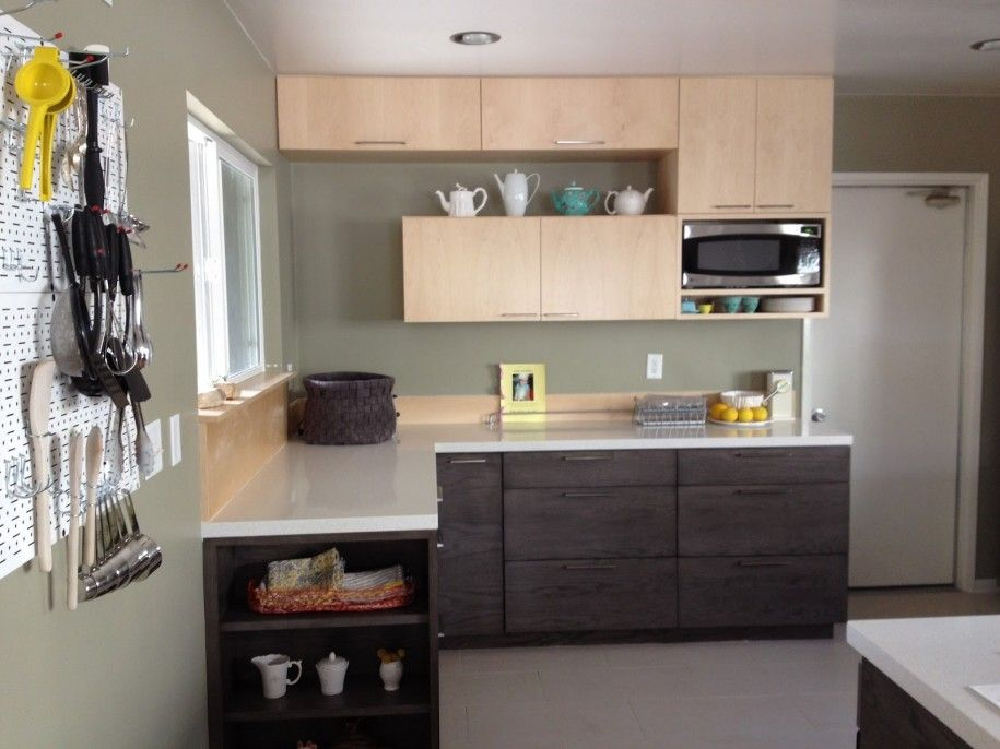 L Designs Kitchen | Kitchen Designs: Awesome Small L Shaped Kitchen Design  Grey Walls In