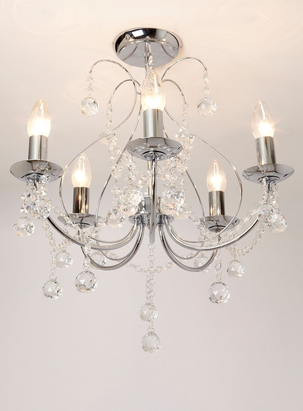 Sapparia 5 Light Flush Chandelier
