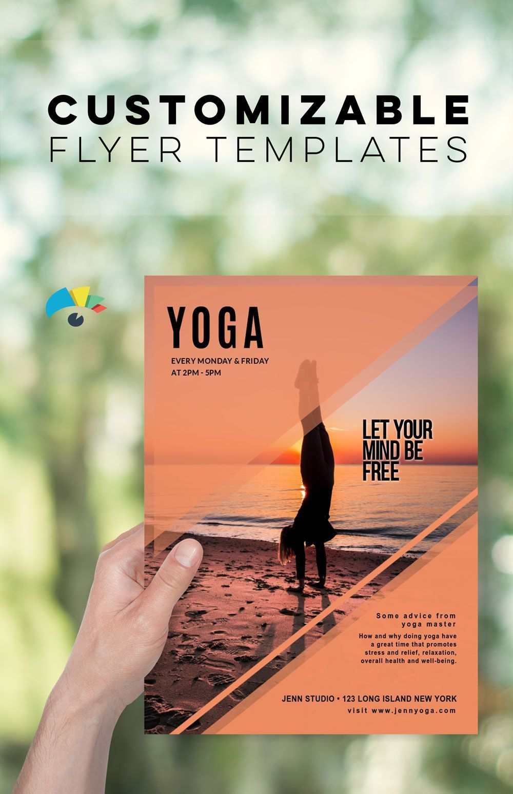 Yoga Flyer Template for your own yoga school or private