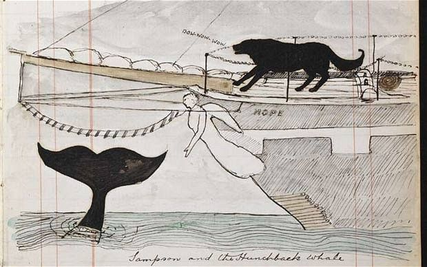 Arthur Conan Doyle's sea-voyage notebook : Sampson and the huntchback whale