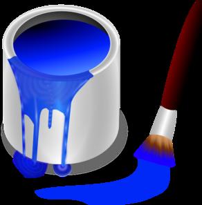 Blue Paint Brush And Can Clip Art Vector Clip Art Online Royalty Free Public Domain Clip Art Teaching Colors Kids Frames