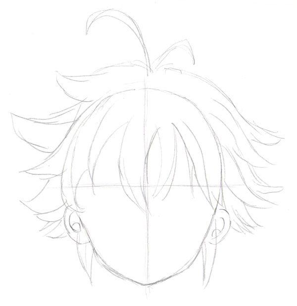 Draw Meliodas Step By Step5 Hair Manga Drawing Draw Manga