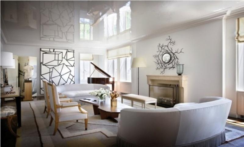 20 Blue Living Room Design Ideas: 20 Bold Art- Deco Inspired Living Room Designs