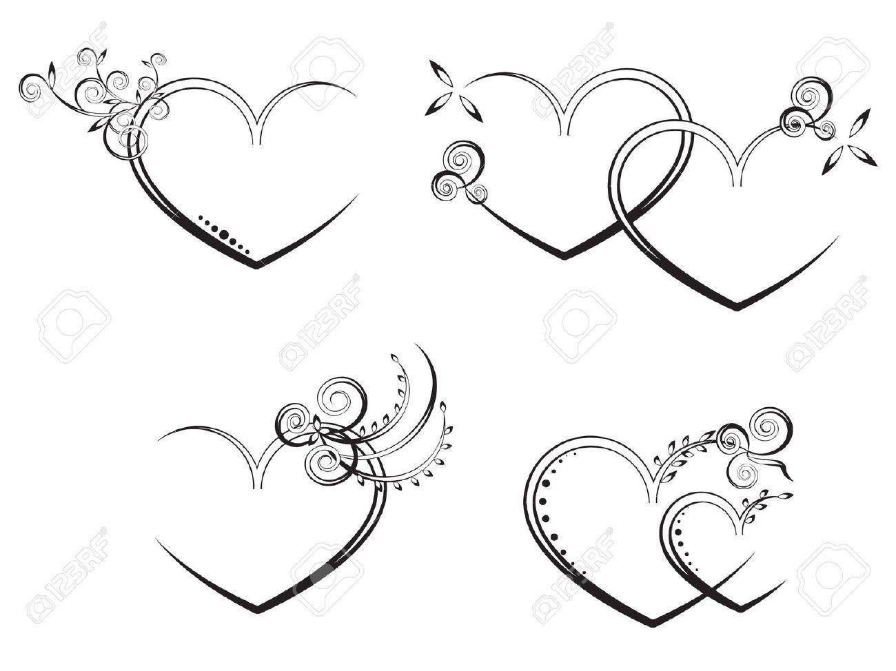 10352805 Flora Heart Stock Vector Wedding Design