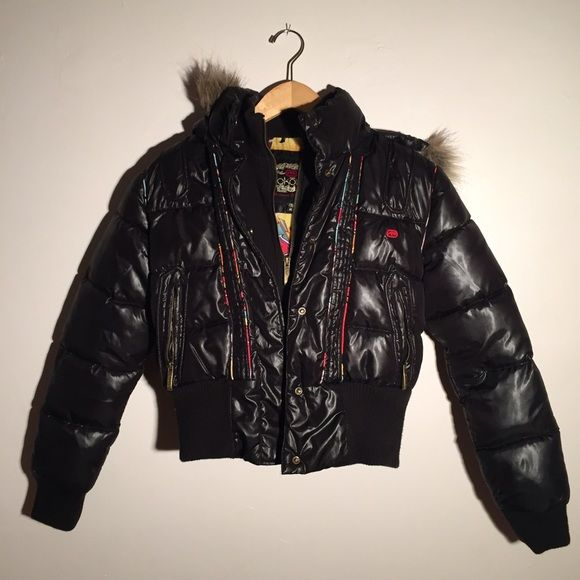 Ecco Graffiti Bomber Hooded Jacket with Faux Fur Ecco Graffiti Bomber Hooded Jacket with Faux Fur size #ecco #graffiti #bomber #hooded #jacket #fauxfur #winter #hoodie #streetwear #hiphop #epic #bestjacket Ecco Jackets & Coats Puffers