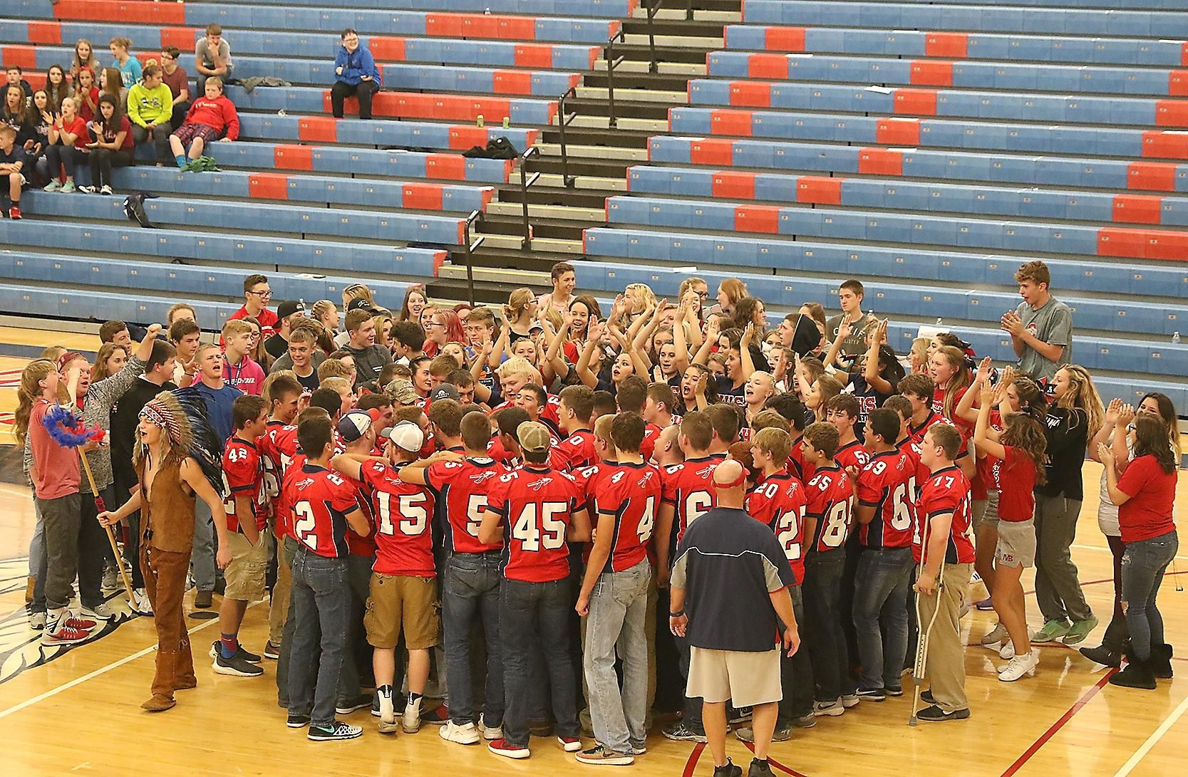 Photo Gallery from the pep rallies at Indian Valley and