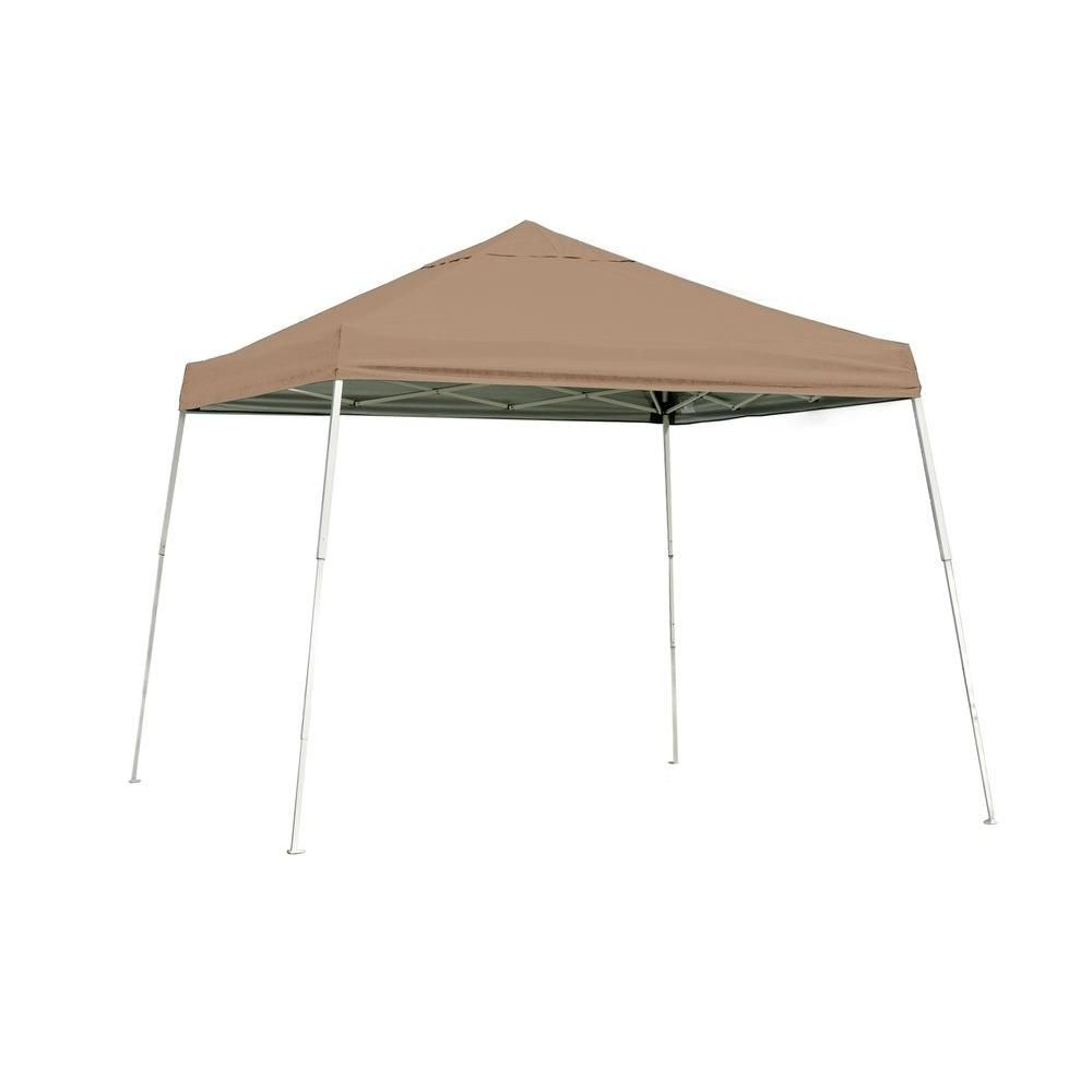 Shelterlogic 10 Ft H X 10 Ft W Sl Pop Up Canopy W Desert Bronze Cover And Black Roller Bag With Water Resistant Lining 22559 Canopy Instant Canopy Portable Shade