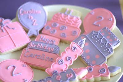 Birthday cookie platter