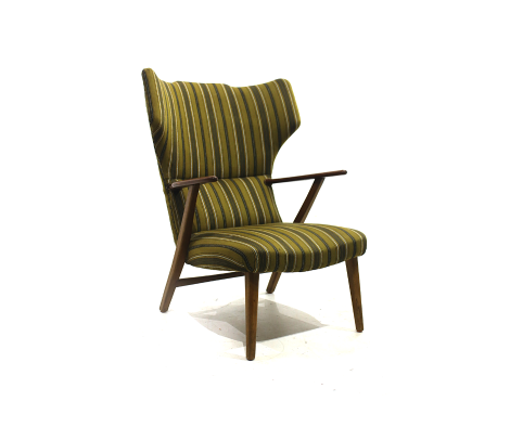 Armchair Of The 1970s With Teak Structure