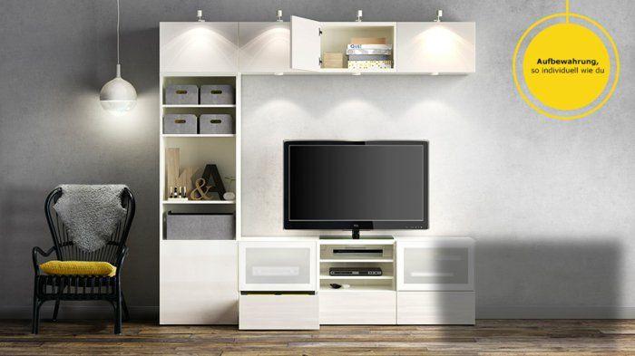 Besta Fronten ikea wohnwand besta weiße fronten aufbewahrungssystem tv kasten